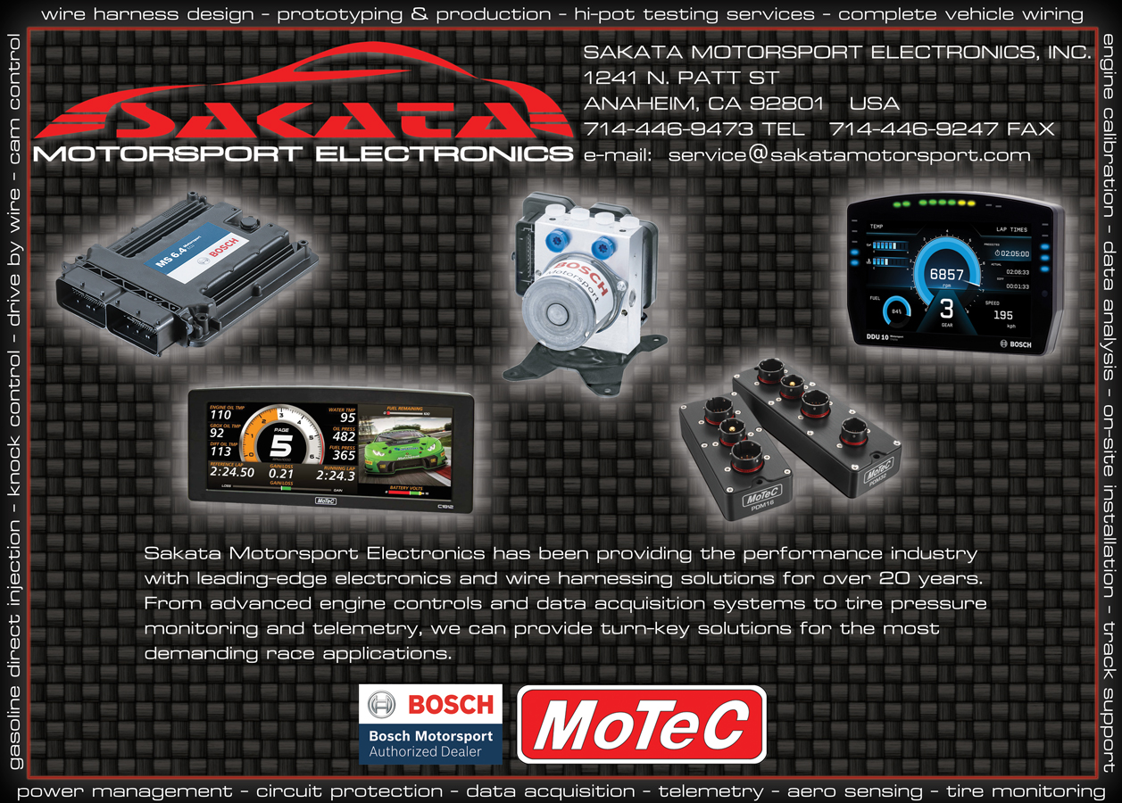 Sakata Motorsport Electronics, Inc. As seen in Race Engine Technology Magazine.